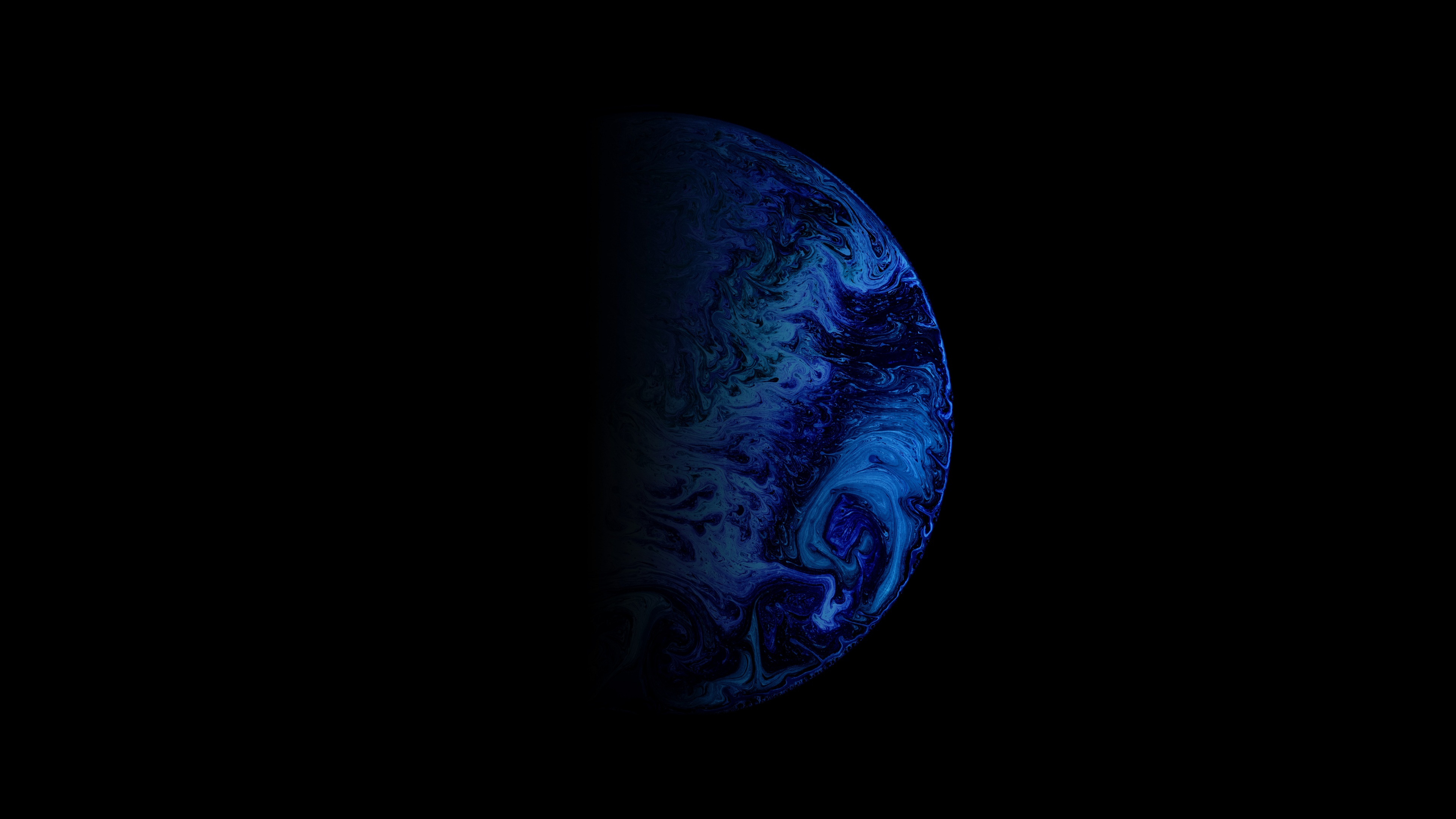Planet 4k Wallpaper Astronomy Outer Space Blue Black Background 5k 8k Space 1515