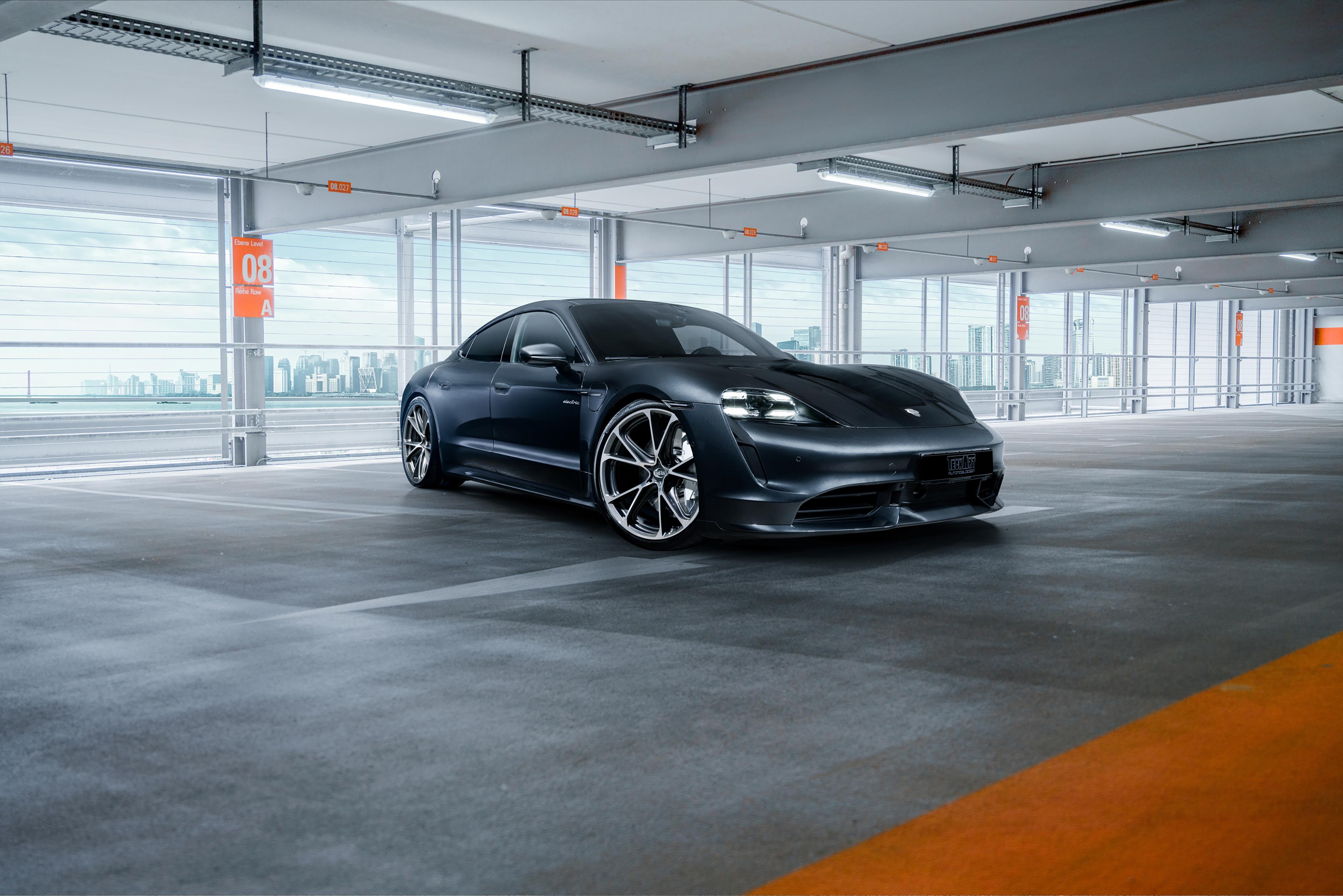 Porsche Taycan Turbo 4k Wallpaper Techart 2020 Cars 1453