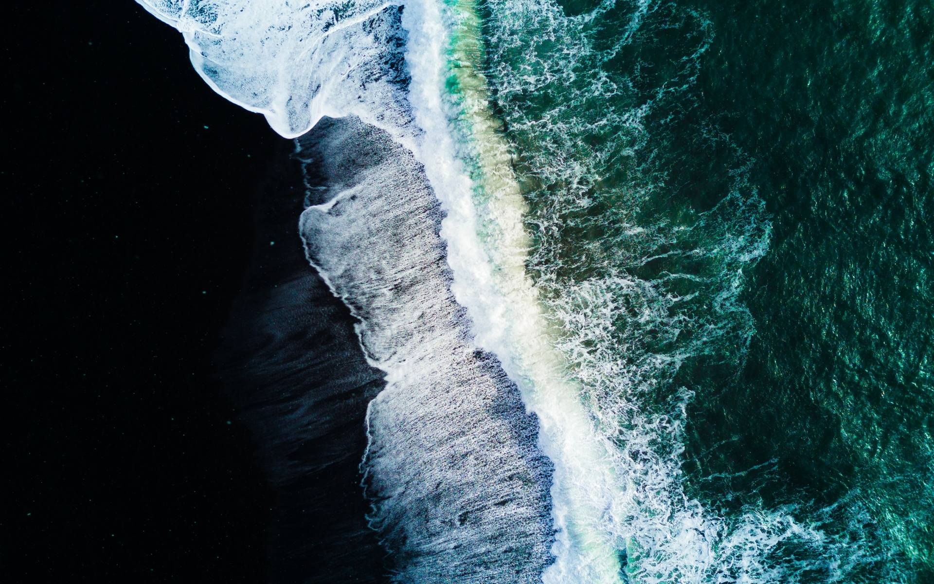 Reynisfjara Black Sand Beach 4k Wallpaper Waves Aerial View Ocean Iceland Nature 1332