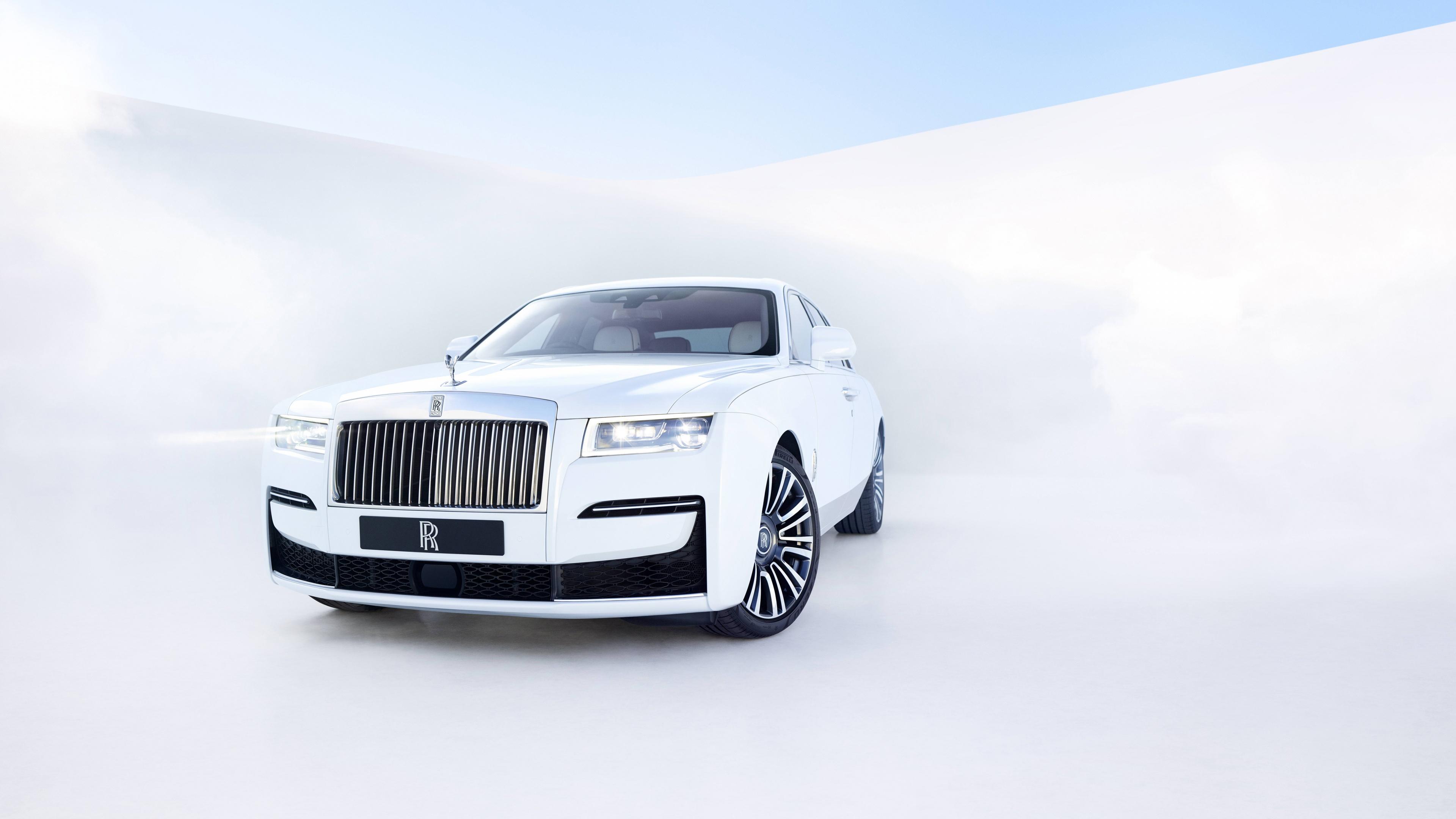 Rolls Royce Ghost 4k Wallpaper 2020 White Background 5k 8k Cars 2554