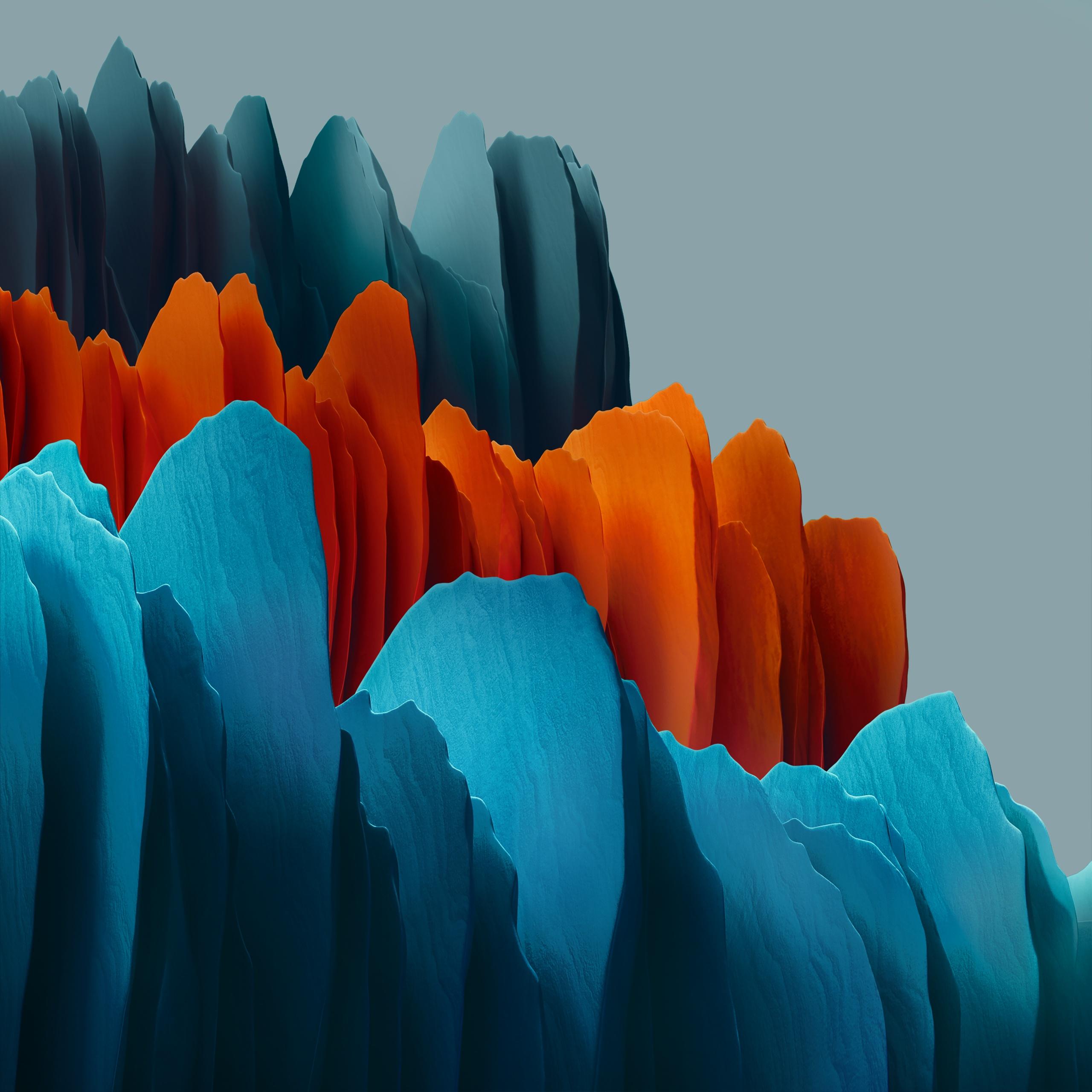 Samsung Galaxy Tab S7 4k Wallpaper Orange Blue Light Stock Abstract 2280