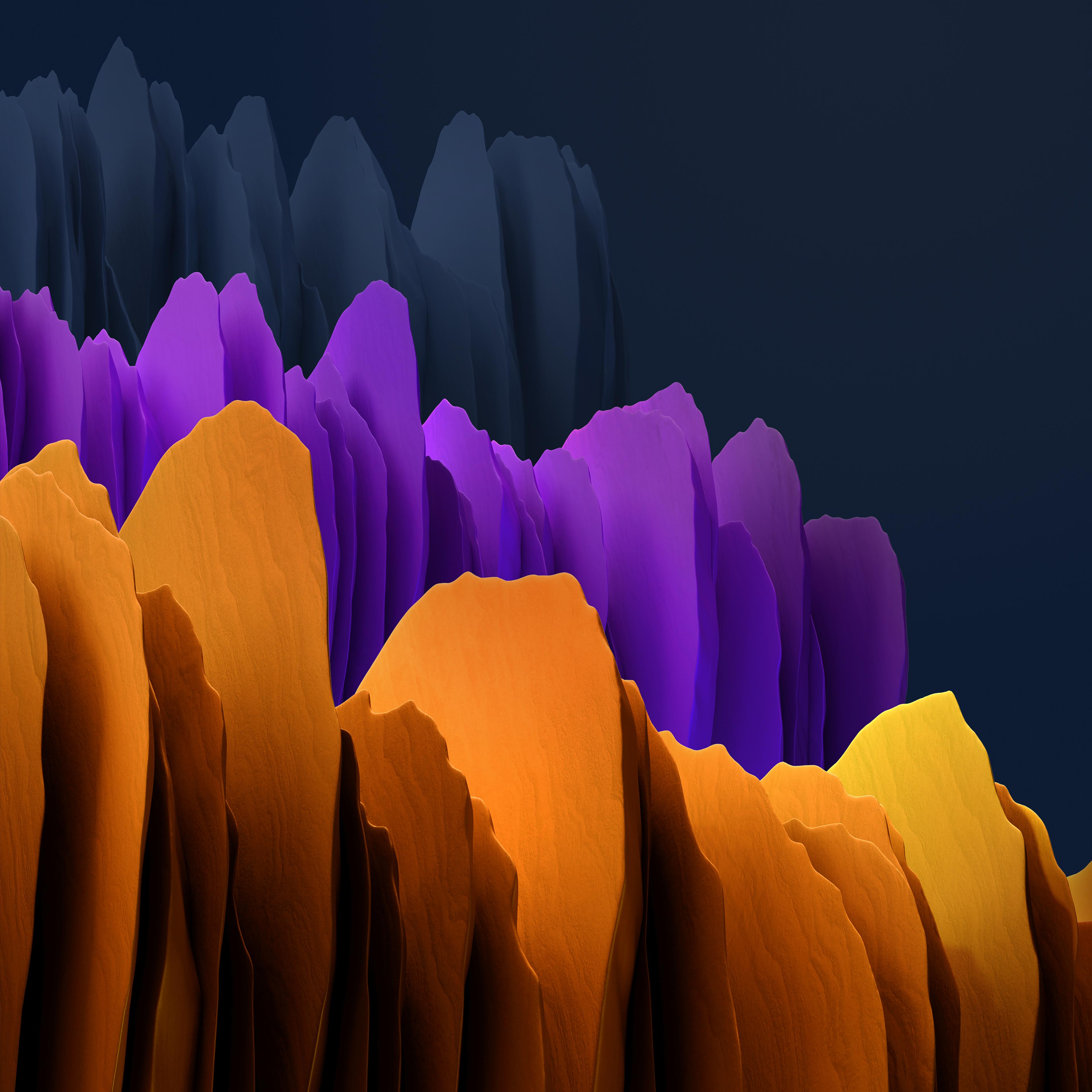 Samsung Galaxy Tab S7 4k Wallpaper Orange Purple Dark Stock Abstract 2279