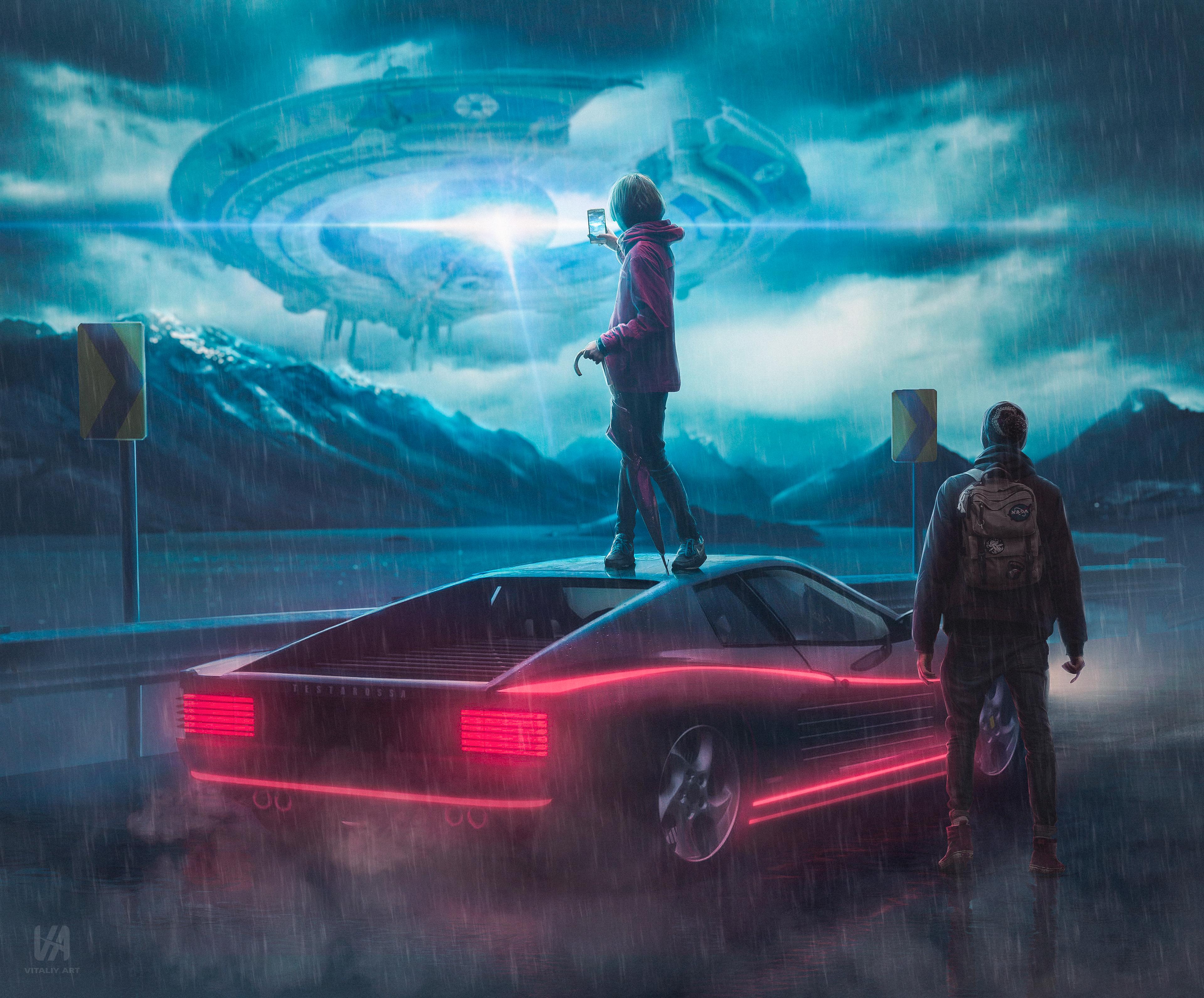 UFO Alien NASA Flying Saucer HD POSTER