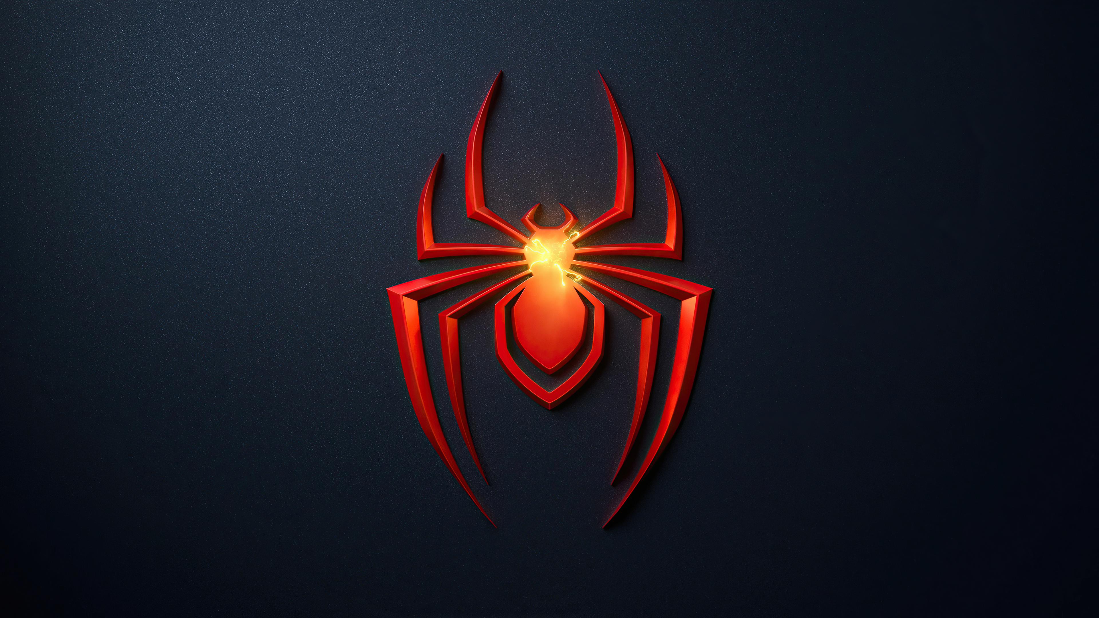 Spider Man Miles Morales 4k Wallpaper Playstation 5 Dark Background 2020 Games Games 1490
