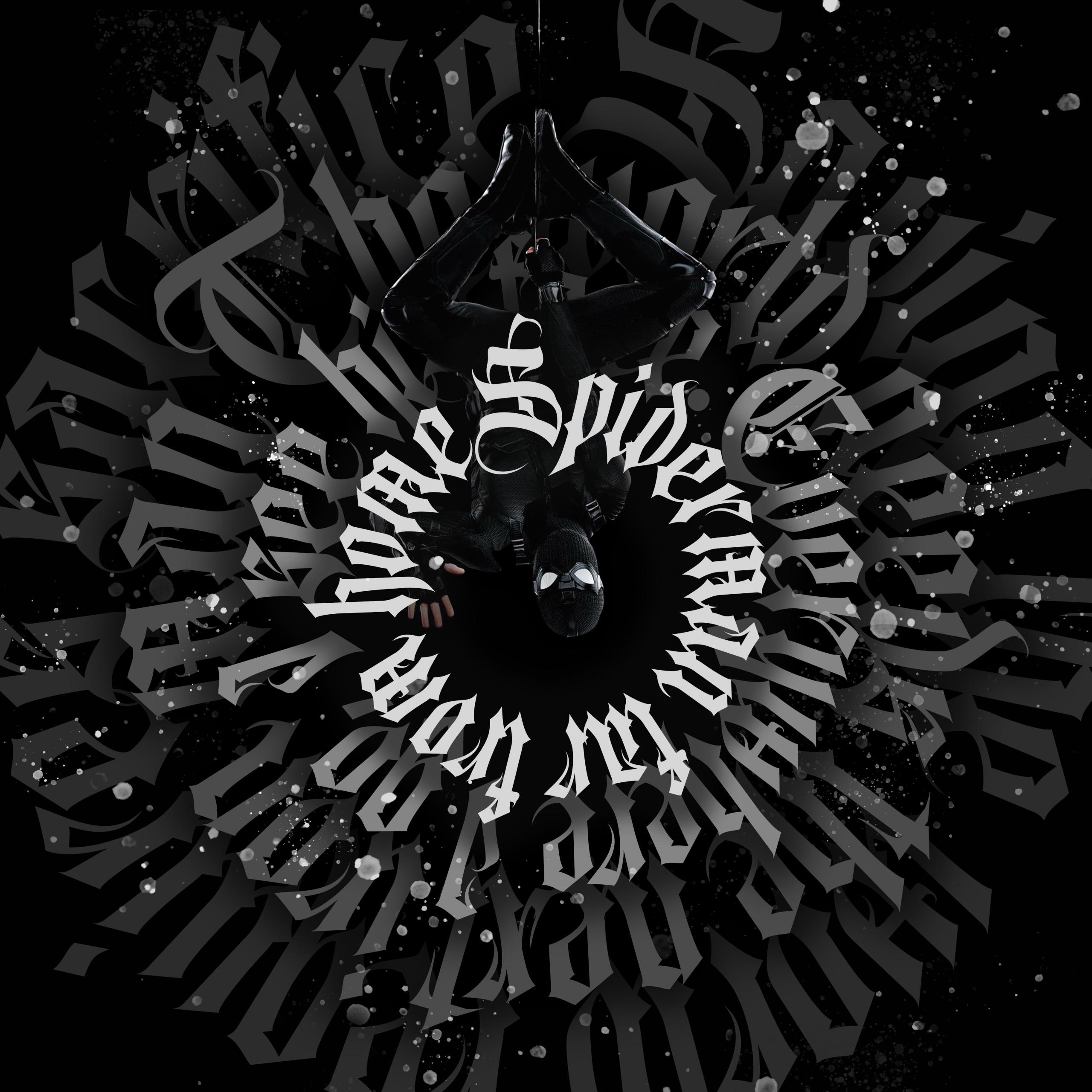 Spider Man Noir 4k Wallpaper Spider Man Dark Black Background Artwork Digital Art Black Dark 586