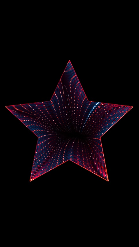 Star 4k Wallpaper Neon Black Background 5k 8k Abstract 1508
