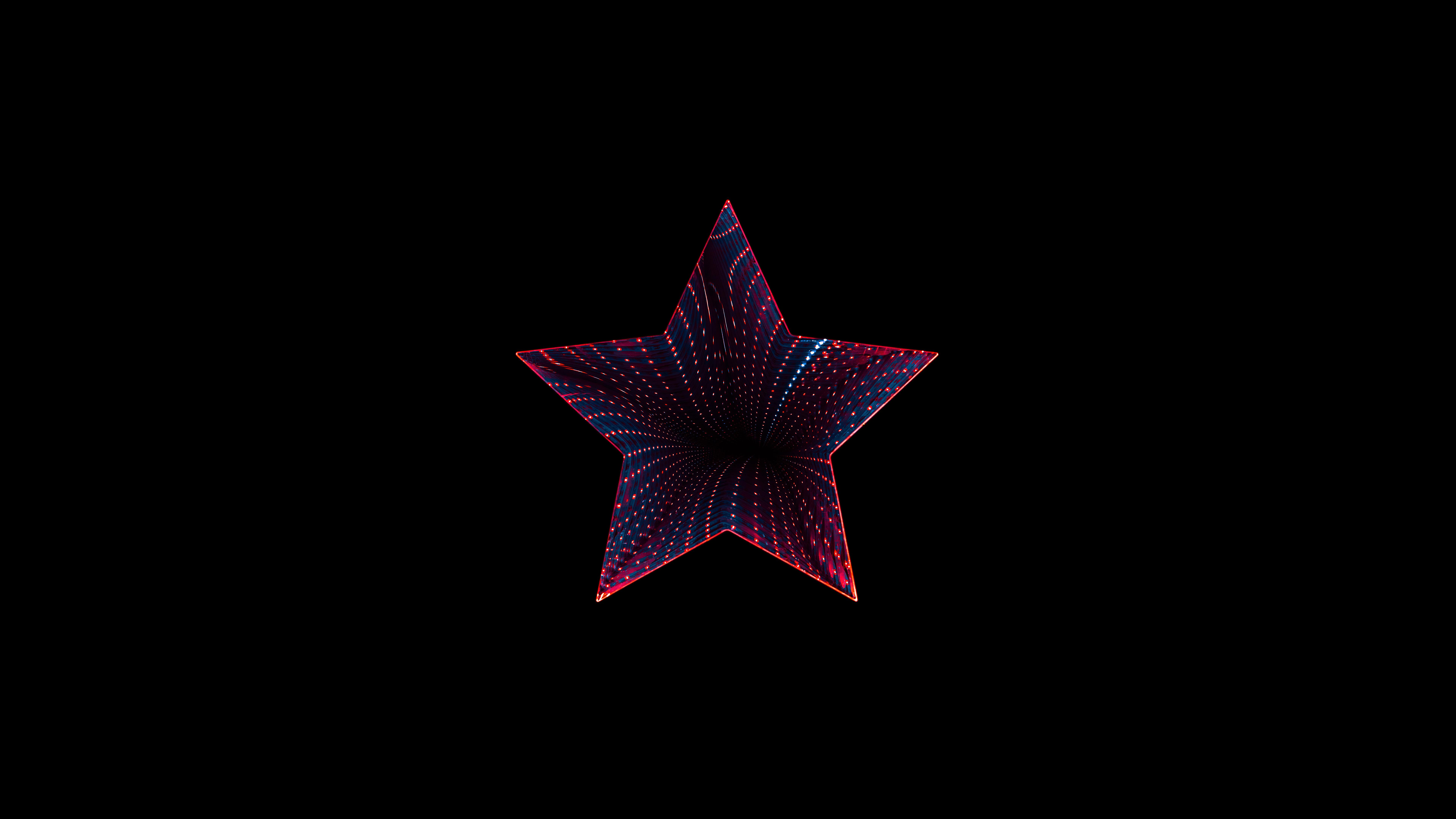 star neon black background 5k 8k 7680x4320 1508