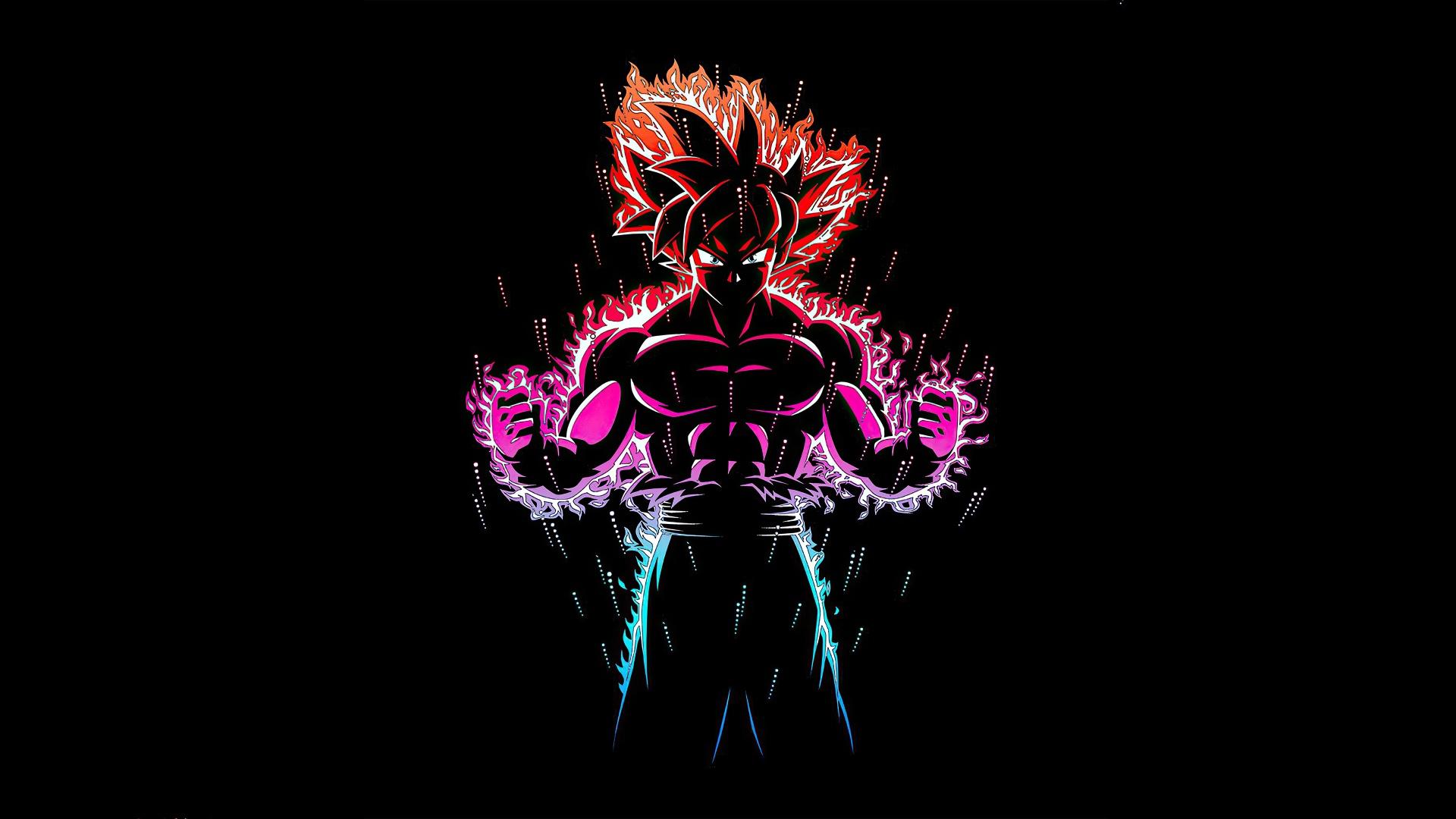 Ultra Instinct Goku 4k Wallpaper Black Background Dragon Ball Z Amoled Graphics Cgi 1817