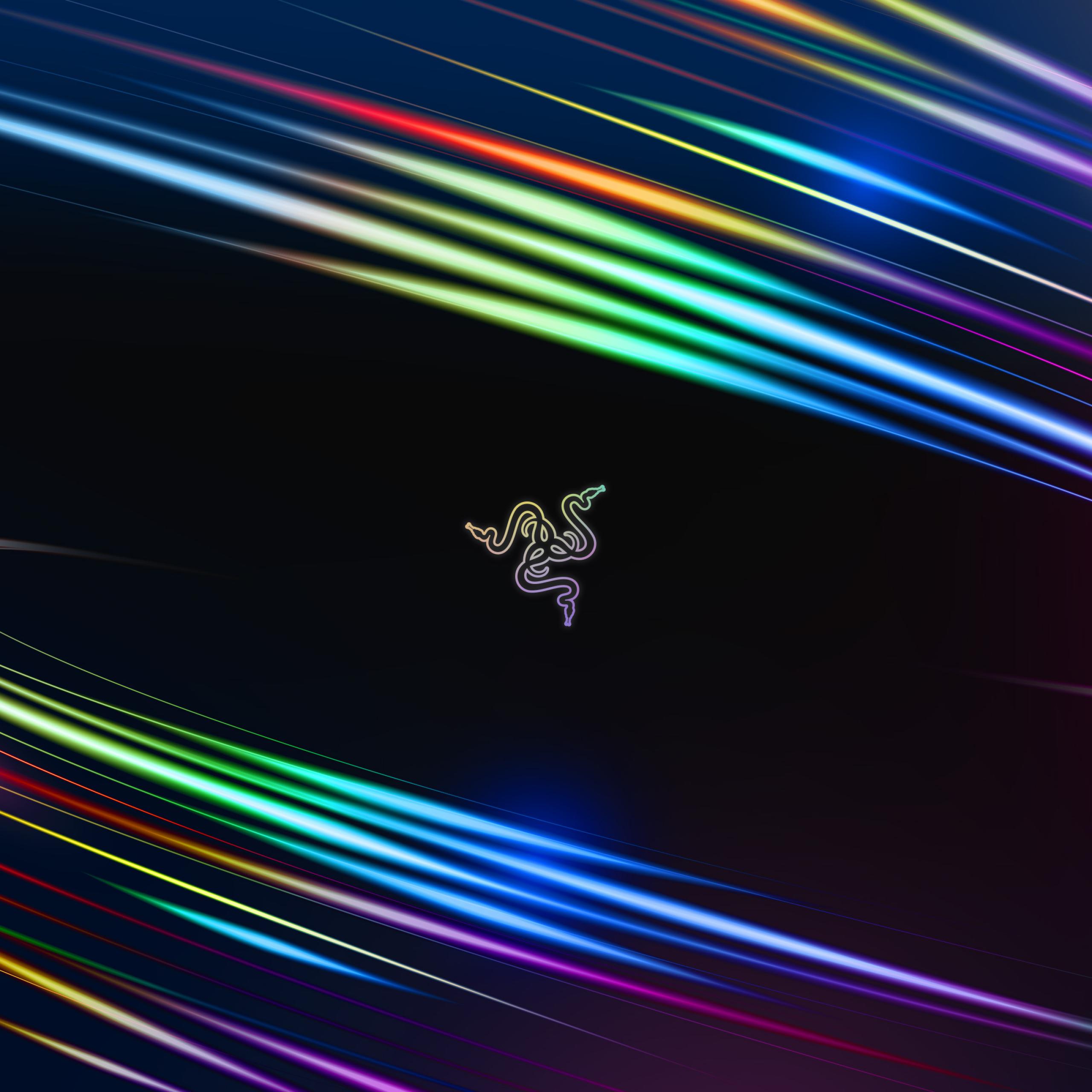 Vortex 4K Wallpaper, Waves, Spectrum, Razer, Colorful