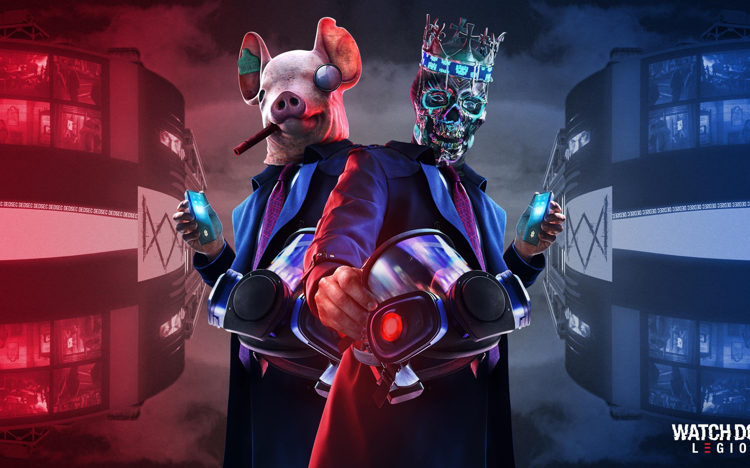 Watch Dogs Legion 4k Wallpaper Ded Coronet Mask Pig Mask Playstation 5 Playstation 4 Xbox Series X Games 673