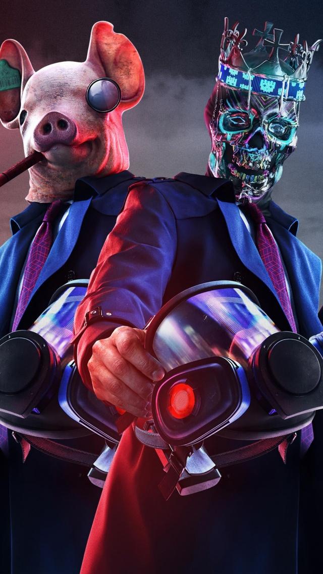 Watch Dogs Legion 4k Wallpaper Ded Coronet Mask Pig