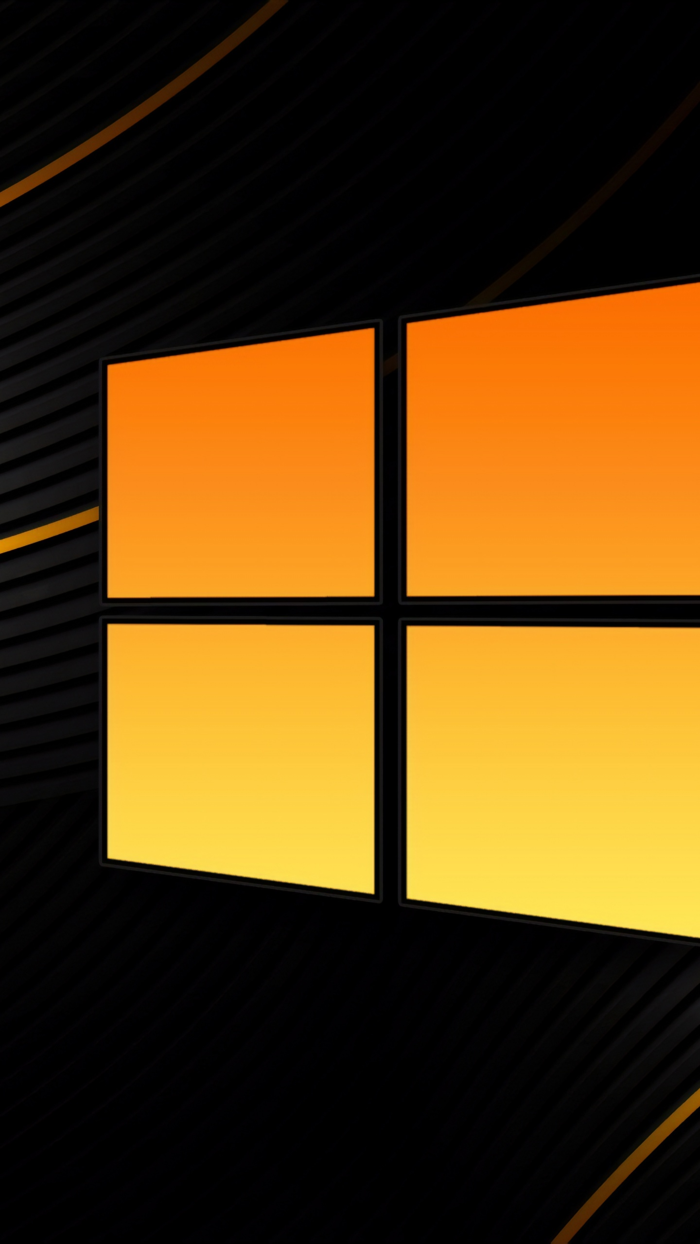 Windows 10 4k Wallpaper Black Background Abstract Yellow 5k 8k Technology 1559