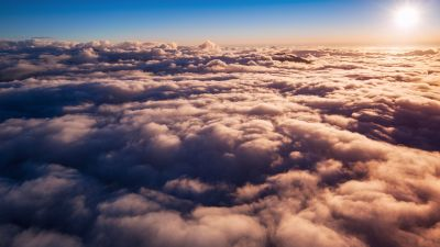 Above clouds, Fiordland National Park, Sunny day