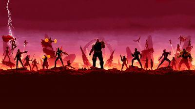 Avengers: Infinity War, Illustration, Marvel Superheroes, Thanos