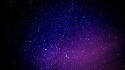 Starry sky, Purple sky, Astronomical, Stars, 5K