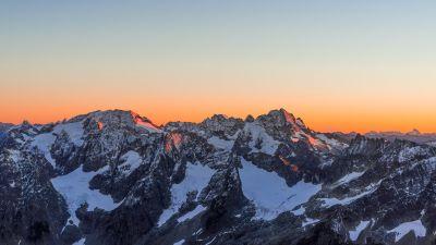 Sahale Glacier Campground, North Cascades National Park, Glacier, Sunset, Dusk, Mountains, Washington