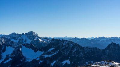 Sahale Glacier Campground, North Cascades National Park, Sunny day, Glacier, Mountains, Washington