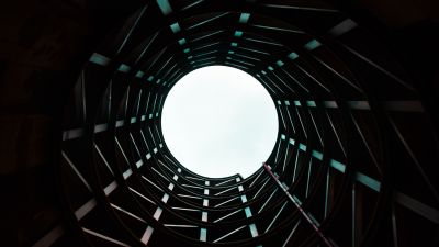Modern architecture, Building, Sky view, Tunnel, 5K