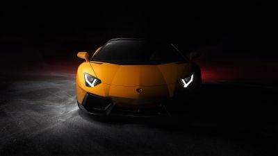 Lamborghini Aventador, Sports cars, Black background