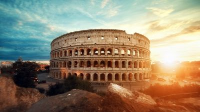 Colosseum, Amphitheater, Historical structure, Rome, Ancient architecture, Italy