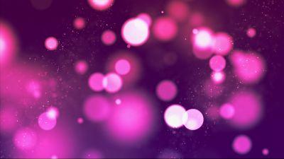 Bokeh, Purple, Pink, Sparkles