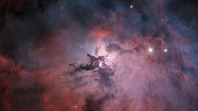 Lagoon Nebula, Interstellar cloud, Constellation, Astronomical, 5K, 8K