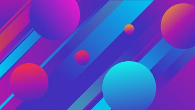 3D background, Gradients, Colorful, Circles, Stripes