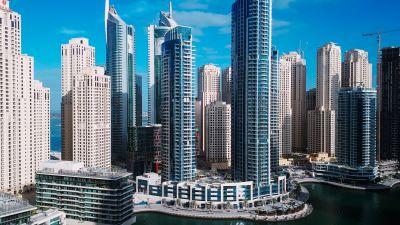 Dubai, Skyline, Cityscape, Skyscrapers, Metropolitan, Urban