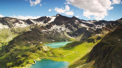 Ceresole Reale, Summer, Mountains, Lake, Sunny day, Landscape, Italy, 5K