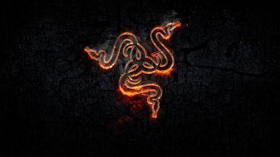 Forged, Razer, Fire, Dark background