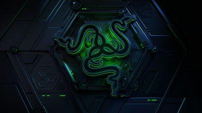 Vault, Razer, Green, Dark, Sci-Fi, 3D, Neon