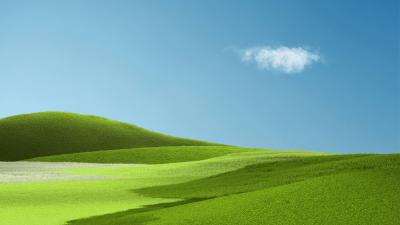 Aesthetic, Landscape, Grass field, Green Grass, Clear sky, Blue Sky, Microsoft Surface Pro X, Stock
