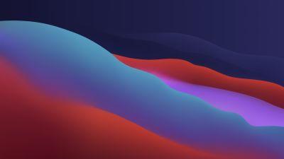 macOS Big Sur, Apple, Layers, Fluidic, Colorful, Dark, WWDC, 2020, 5K