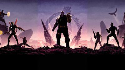 Avengers: Endgame, Avengers: Infinity War, Thanos, Marvel Superheroes, Dark, 5K, 8K