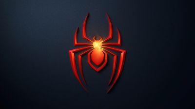 Spider-Man: Miles Morales, PlayStation 5, Dark background, 2020 Games
