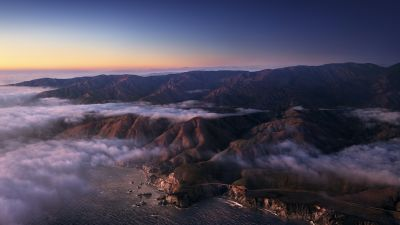 Big Sur, Mountains, Clouds, Sunrise, Morning, macOS Big Sur, Daylight, Stock, California, 5K