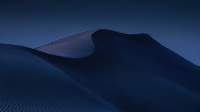 Desert, Sand dunes, Night, Moon light, Abu Dhabi, Blue, 5K