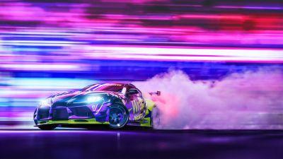 Toyota Supra, Drift, Colorful