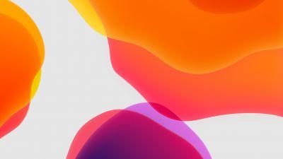 iPadOS, Stock, Orange, White background, iPad, iOS 13, HD