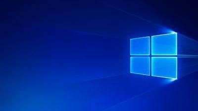 Windows 10, Microsoft Windows, Blue, Glossy, Blue background