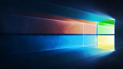 Microsoft Windows, Windows 10, Colorful, Blue background