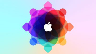 Apple logo, WWDC, Colorful, Gradient background, 5K
