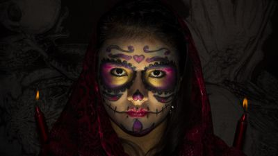 Woman, Scary, Halloween, Mexican, Festival, 5K