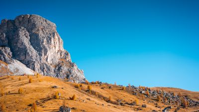 Cliff, Landscape, Autumn, Clear sky, Blue sky