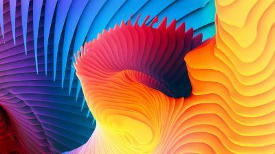 Spectrum, Spiral, Colorful, Symmetric, Rhythm, Aesthetic, HD
