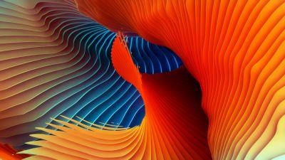 Spectrum, Spiral, Colorful, Symmetric, Rhythm, Red, HD