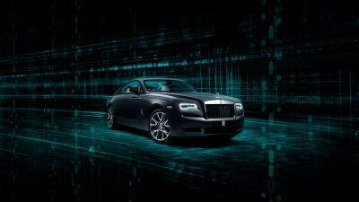 Rolls-Royce Wraith Kryptos Collection, 2020, 5K, 8K, Dark background