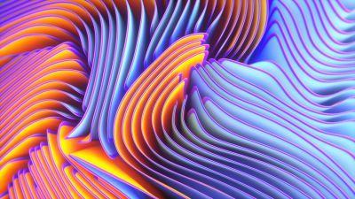Twirls, Colorful, Spectrum, Blue