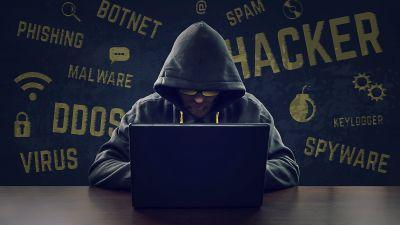Hacker, Laptop, Hoodie, Modern, Malware, Cyber security, 5K