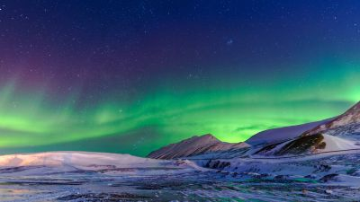 Northern Lights, Aurora Borealis, Winter, Norway, 5K